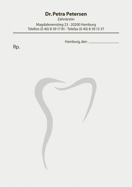 Privatrezepte mit Zahnsilhouette groß