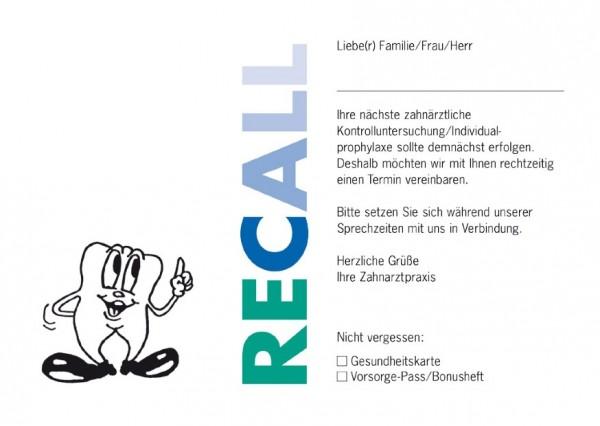 Recall-Postkarten RECALL (grün/blau)