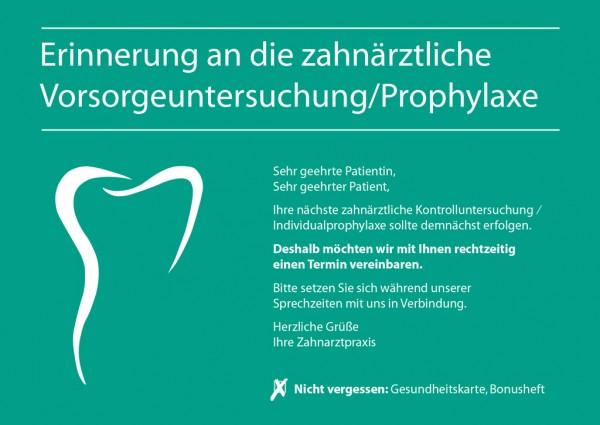 Zahnsilhouette Erinnerung / Individualprophylaxe