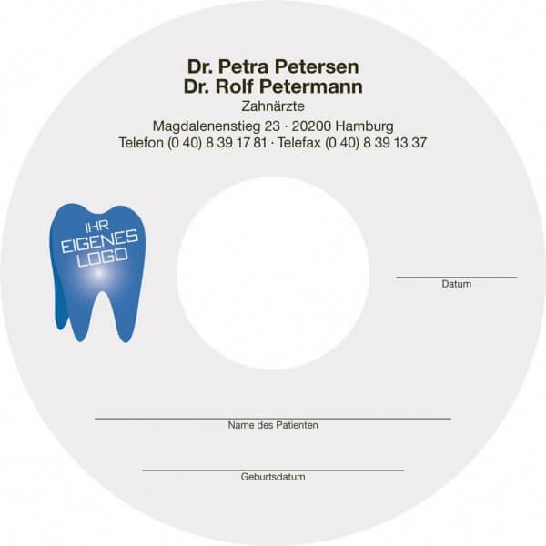 CD-Labels für Röntgen-CDs farbig