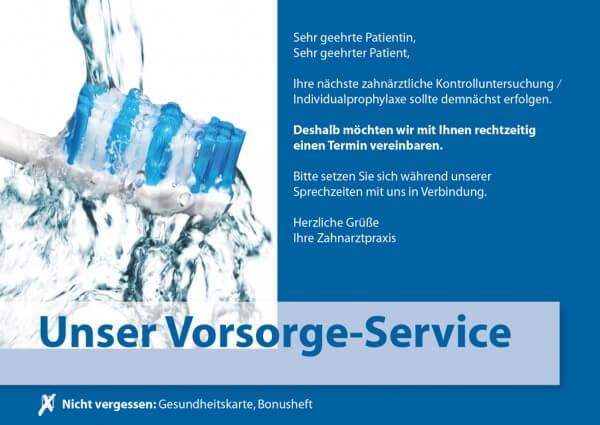 Vorsorge-Service mit Zahnbürstenkopf