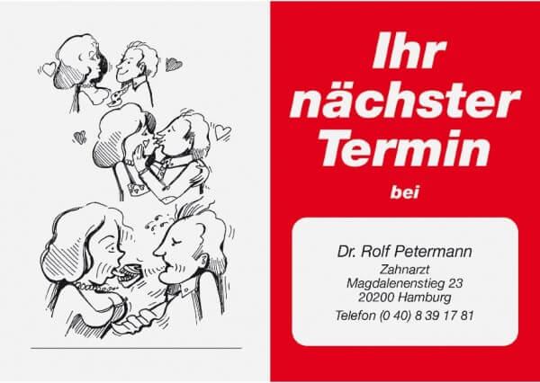 Terminkarte-Zahnarzt-Rot 423
