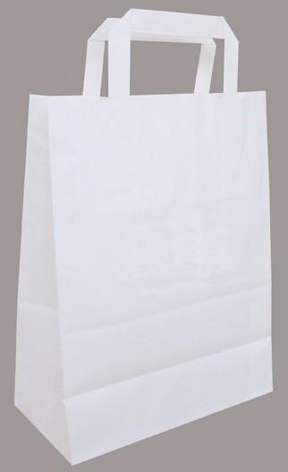 Papiertragetaschen weiß neutral