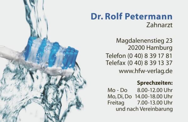 Visitenkarte Zahnbürstenkopf